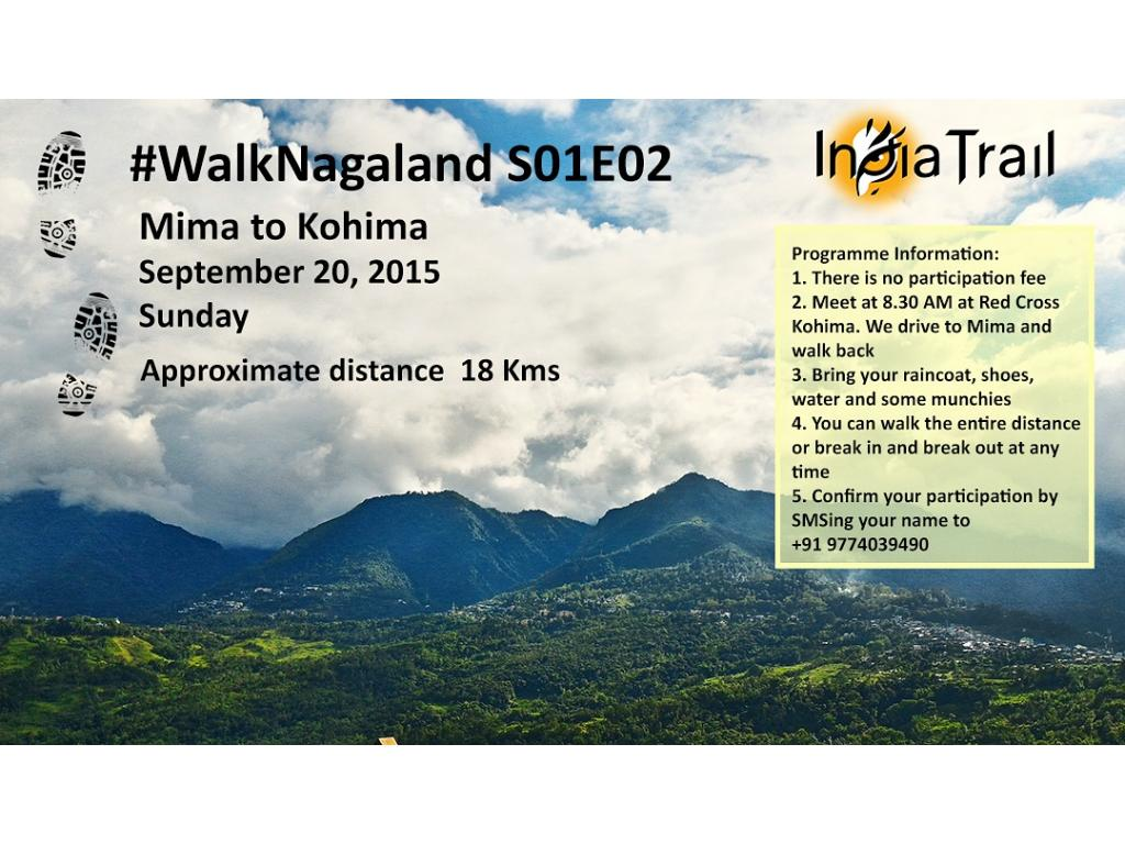 Join India Trail's 2nd Edition of walk Nagaland on 20th September 2015