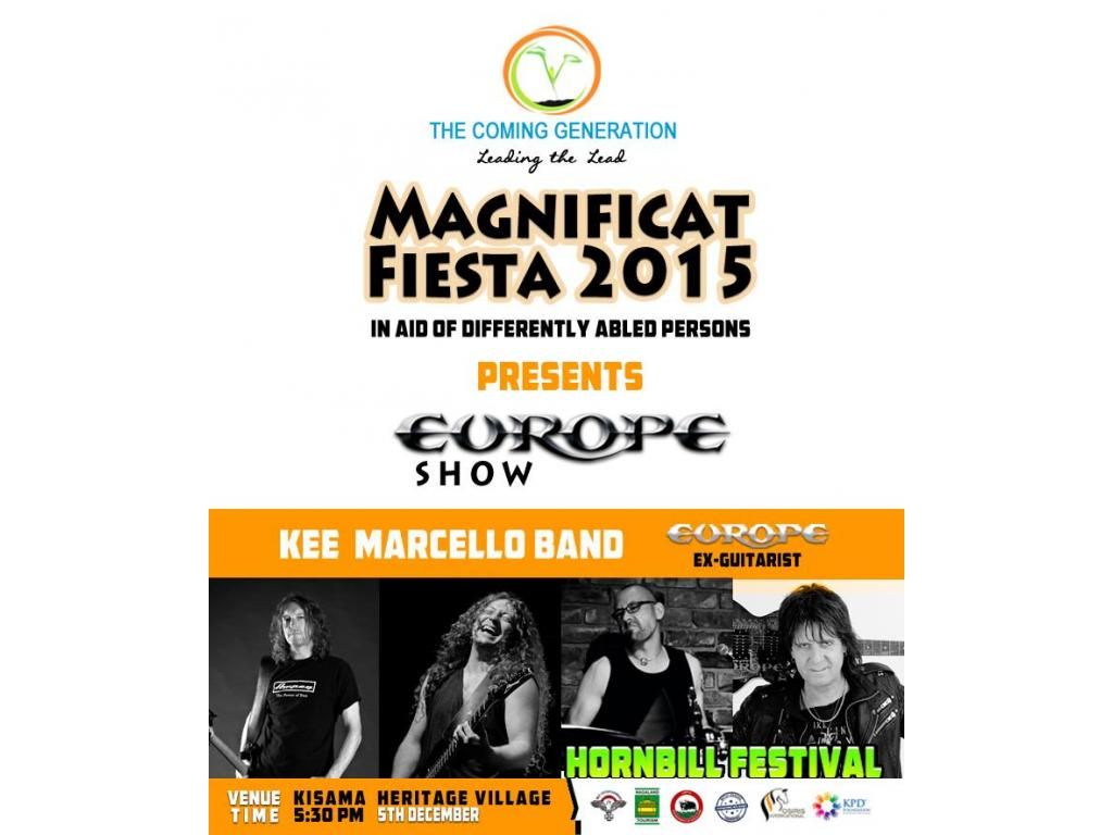 """MAGNIFICAT FIESTA"" WITH KEE MARCELLO BAND AT HORNBILL FESTIVAL 2015 ON 05-12-2015, KISAMA"
