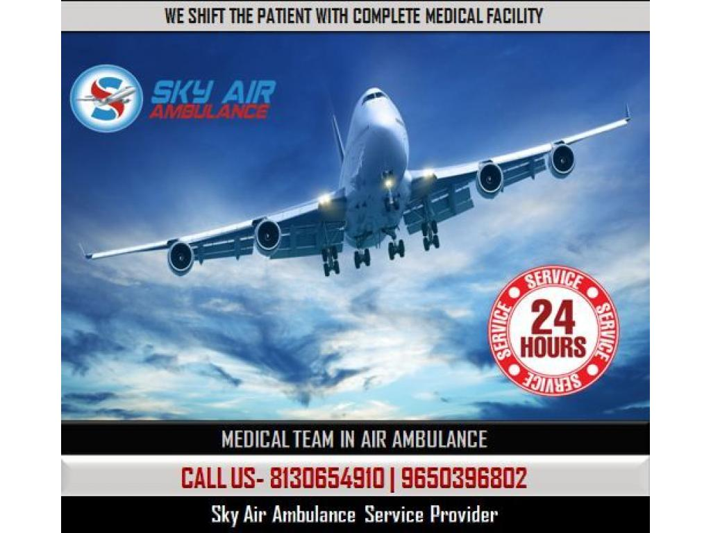 Sky Air Ambulance in Guwahati with the Feature of ICU System