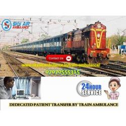 Choose Rail Ambulance in Guwahati with Medical Staff