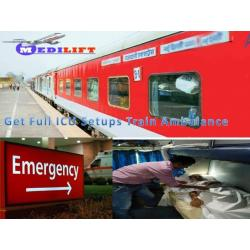 Medilift Train Ambulance from Patna to Delhi – Doctor Facility