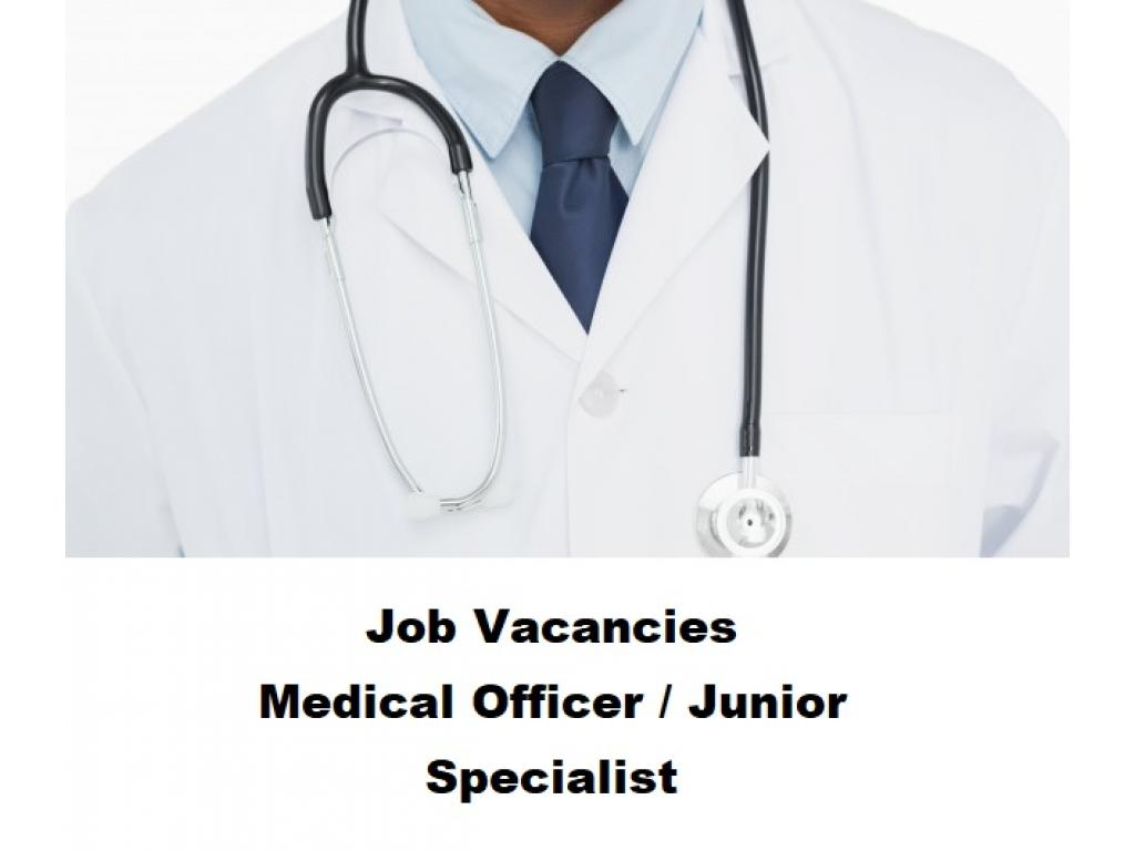 EXPIRED - Job Vacancies for Medical Officer / Junior Specialist Directrate of Health and Family Welf