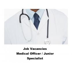 Job Vacancies for Medical Officer / Junior Specialist Directrate of Health and Family Welfare, Gover