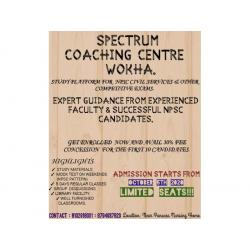 SPECTRUM NPSC COACHING CENTRE IN WOKHA NAGALAND