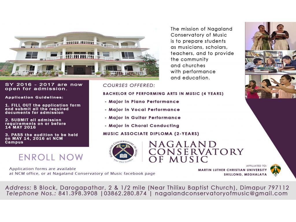 Enroll now at Nagaland Conservatory of Music
