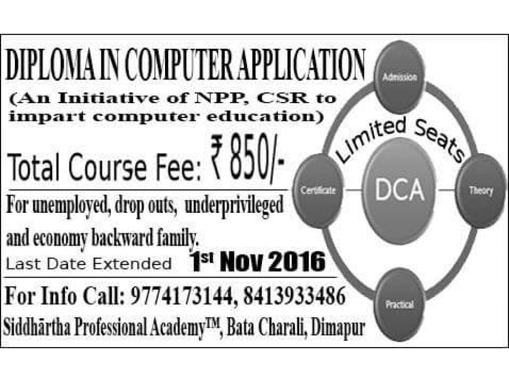 Computer course-Diploma in Computer Application at Siddharta Professional Academy