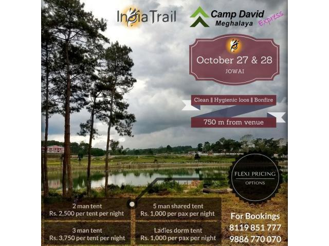 Experience Camping in Meghalaya - Camp David - India Trail