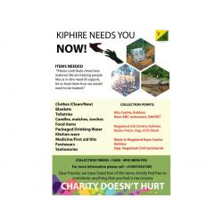 Charity donation drive for Kiphire by YouthNet Nagaland