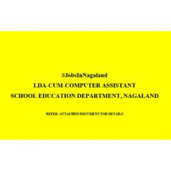 LDA cum Computer Assistant Jobs under School Education Department Nagaland