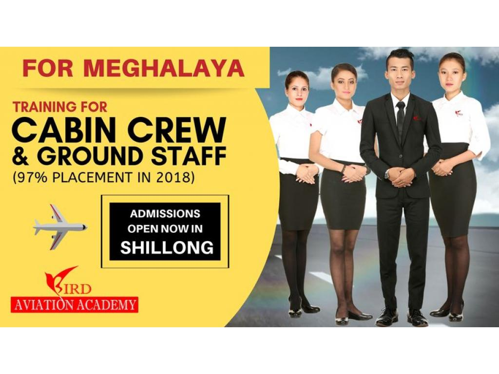 Admissions Open In Shillong For Cabin Crew, Ground Staff & Hospitality Training Courses by Bird